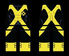 Modern New Mutants Costume (bravedesign) Tags: new lego wells xmen printing heroes decal superheroes custom marvel printed mutants zeb cannonball minifigure cypher