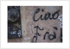 Ciao (Pictures from the Ghost Garden) Tags: street venice urban streetart color colour art landscape graffiti nikon dslr venezia urbanlandscape dorsoduro 18105mm d7100