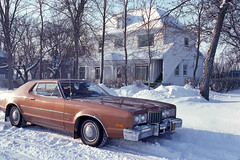 Canadian Winter - December 1978 (POP SNAP) Tags: canada manitoba 1978 kodachrome nikkormat fordmercurymontego