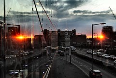 Reflection (kev747) Tags: sunset reflection leicester