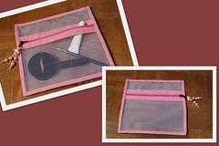 Necessair tule (ceciliamezzomo) Tags: pink bag handmade makeup rosa zipper patchwork ziper necessaire