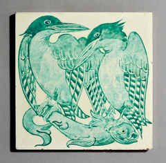 Tile by Robert Minton Taylor (robmcrorie) Tags: fish robert tile stacey stacy marks henry kingfisher taylor minton 1869 1874