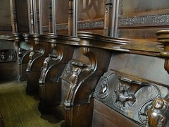 Misericords at Holy Trinity (Kniphofia) Tags: stratforduponavon holytrinity misericords church carvings