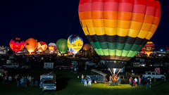 NIght Glow at the Albuquerque International Balloon Fiesta (tltichy) Tags: abq albuquerque balloon balloons burn colorful evening festival fiesta fire glow glowing hotairballoons international newmexico night nightglow outdoors