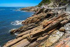 Stormsriver Area (Ron Scubadiver's Wild Life) Tags: landscape south africa 20mm rocks sea sky bridge nikon