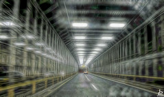 Escape Tunnel (Jersey JJ) Tags: nyc new york city manhattan escape tunnel fractalius canon g11 vanishing point