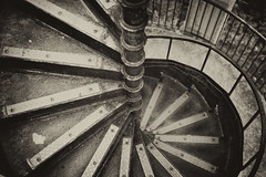 The Spiral Staircase (tpatt83) Tags: 2016 staircase stairs bw blackandwhite tower spiral