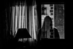 Self portrait (isagsr) Tags: selfportrait autorretrato blackandwhite bw night street window ventana creepy ttrico longexposition