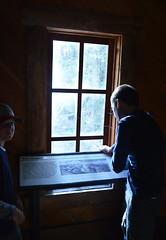 Reading the History (Sotosoroto) Tags: dayhike hiking mtrainier cascades mountains washington wonderlandtrail whiteriver cabin window