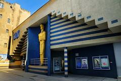 Baltyk cinema (RafalZych) Tags: baltyk batyk cinema kino oscar oskar figura figure statue defunct abandoned old narutowicza street lodz d nikon d90 wide wideangle color architecture buiding