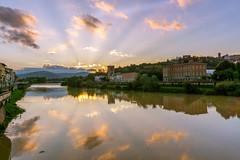 Firenze! (aliffc3) Tags: firenze florence italy europe vacation holiday sonya6000 sigma19f28 sunrise sunrays tuscany landscape arnoriver reflections