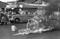 Thich Quang Duc, a Buddhist Monk, on a Saigon Street Protesting Persecution of Buddhists by South Vietnamese on June 11, 1963 (vieilles_annonces) Tags: thichquangduc americanhistory 1963 60s 1960s sixties vietnamese buddhistmonk