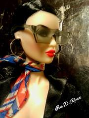 OPIUM... (krixxxmonroe) Tags: ira d ryan photography krixx monroe styling fashion royalty nu face fr2 opium ayumi black brocade suit by the vogue hong kong