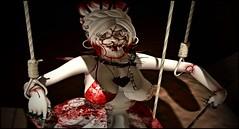 TorturedAngel4 (shirley Uborstein) Tags: spooky halloween haunting scary bloody puppet doll creepy girl female woman photography sl secondlife inworld fashion blog 187 cubiccherrykreations 7madravens altair candydoll cureless doe glamaffair randommatter secretbodyposes thenightmareevent cx