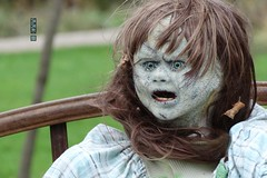 Little Girl at Haunted Hollow, Weyauwega, WI 10/25/2016 10:42AM (Craig Walkowicz) Tags: girl child creepy spooky eerie scary disturbing possessed halloween wisconsin ccw horror