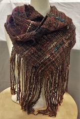 """Arabian Nights"" warp (wovenflame) Tags: alpaca handspun arabiannights saori handwoven weaving"