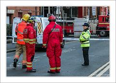 Fire Investigation Team (Fermat48) Tags: manchestercitycentre nicholasstreet chinatown fire firebrigade police fireinvestigationteam canon 7dmarkii manchesterfireservice
