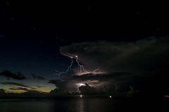 thunders COZUMEL (DROSAN DEM) Tags: thunders rayos sky cielo nigth stars estrellas noche nube cloud atardecer ocaso sunset cozumel mexico tormenta electrica gold golden natura panorama