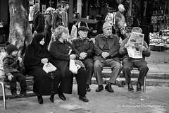 Street 198 (`ARroWCoLT) Tags: tired street sokak canon 700d istanbul white oldman resting sitting bench bank people photography blackwhite bw paper art insan human arrowcolt monochrome 50mm f18 bnwpeople bnw bnwstreet ishootpeople skdar bokeh dof blackandwhite