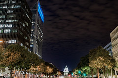 Sacramento at Night (Steven.Styles) Tags: sacramento night city urban scene cityscape clouds lights sky lighttrails sactown cityoftrees california photography