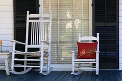 IMG_3726 (Ron_3) Tags: frontporch rockingchairs window shutters childsrocker pillow redpillow