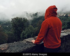 Photo accepted by Stockimo (vanya.bovajo) Tags: stockimo iphonegraphy iphone desperate man teenager alone unhappy dark darkness no future clouds mountains scared scary cloudy cold forest nature rear view motivation caucasian teen problem problems angry isolate fog foggy weather