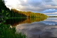 Lake Jukajärvi in the evening (Juva camping, Juva, 20120626) (RainoL) Tags: 2012 201206 20120626 camping es eteläsavo evening finland jukajärvi june juva lake summer sunset fin geo:lat=6189309500 geo:lon=2782228100 geotagged