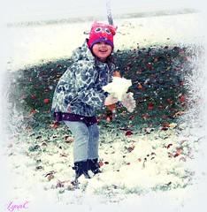 Snow baby (Lynn English) Tags: violet snow 2016