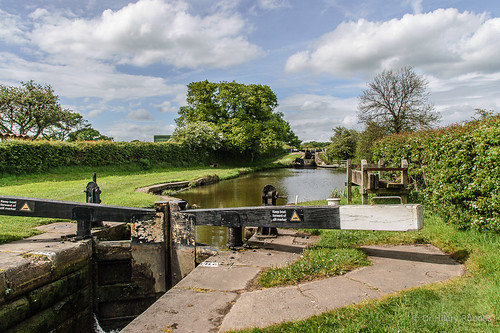 Bosley Lock 4 and lock three in the distance