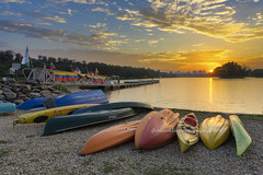 Wetland lake park (gilbertchuachian_siong) Tags: a6000 sony jetty flags sunset boats park lake malaysia putrajaya wetland