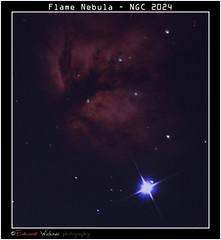 Flame Nebula ( Eduard Wichner) Tags: flame nebula ngc 2024 ngc2024 orion dso flamenebula sky waycher skywatcher netwonian astrophotography astrometrydotnet:id=nova1807271 astrometrydotnet:status=failed