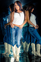 Mel (timmawphotography) Tags: jeans cowboy boots mirror girl model photoshoot glamour