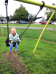 Alice On A Swing At Horfield Common Open Space (samsaundersleeds) Tags: swing horfield
