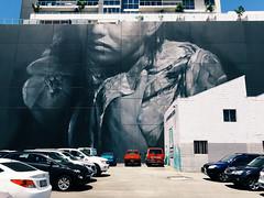 Wooloongabba Mural, Brisbane (stephenk1977) Tags: australia queensland qld brisbane woolloongabba gabba guidovanhelton street art mural portrait iphone6 vsco g2 preset