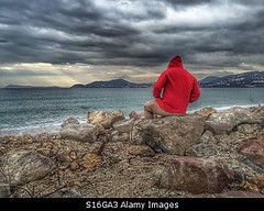 Photo accepted by Stockimo (vanya.bovajo) Tags: stockimo iphonegraphy iphone man sea cloudy weather disappointed stress stressed alone problems problem scenic scenary light teenager day taking break active caucasian