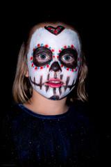 The Mask (Daniel Kulinski) Tags: 30mm daniel danielkulinski europe image imagelogger kulinski nx nx30mm nx30mmf2 nx1 photograhy picture poland pruszkow samsung samsungcamera samsungnx samsungnx30mm samsungnx30mmf2 samsungnx1 creative daughter face helloween mask muerte paint party photography portrait skull white wlkalesiewska wojewdztwodzkie pl girl girls mexican style