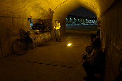 iran_011 (muddycyclist) Tags: panasonic lumix lx7 iran isfahan esfahan bridge night