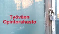 TO (neppanen) Tags: sampen discounterintelligence helsinki helsinginkilometritehdas suomi finland päivä86 reitti86 päiväno86 reittino86 lukko locked door ovi työväen opintorahasto