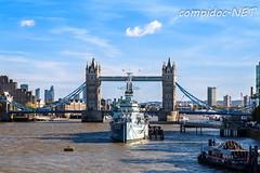 HMS Belfast vor der Tower Bridge (compidoc) Tags: towerbridge schiff gegenstaende grossbritannien london wasser themse boat boot containerriese containerschiff dampfschiff greatbritain kanu kreuzfahrtschiff ozeandamper schlauchboot segelboot speedboot water england vereinigtesknigreich gb