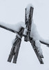 Snow Pins (Images by MK) Tags: snow winter clothesline clothespins snowy cold white outdoor