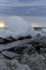 Lake Michigan sunset 4 (Calvin Morgan) Tags: sunset lake waves peremarquette lakemichigan muskegonmichigan nikond7000