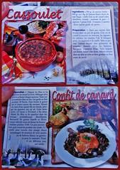 Mets de la rgion.  Regional food. (France-) Tags: food france cassoulet nourriture mots recette canardconfit