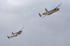 The Flying Bulls North American B-25J Mitchell N6123C and Lockheed P-38L Lightning N25Y 13 (Andy C's Pics) Tags: duxford lightning mitchell lockheed redbull b25j imperialwarmuseum iwm northamerican flyinglegends duxfordflyinglegends theflyingbulls p38l n6123c n25y