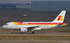 Iberia A319-100 EC-JEI (birrlad) Tags: madrid airplane airport spain ramp taxi aircraft aviation airplanes terminal apron landing international airline airbus arrival airways mad airlines runway landed airliner iberia barajas arriving taxiway a319 a319100 a319111 ecjei