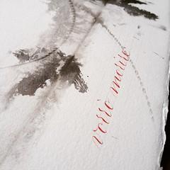 Sumi rosso e nero (La Stanza di Wendy) Tags: square handmade squareformat calligraphy sumi bookbinding calligrafia carta leporello macchie merini fattoamano corsivo handwriter iphoneography instagramapp silviamandelli