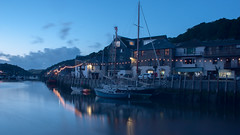 East Bank, Looe Harbour (ianladd) Tags: sunset summer sailboat lights golden boat fishing cornwall day slow harbour yacht august east filter hour nd shutter anchor catch density looe neutral nd8 3stop