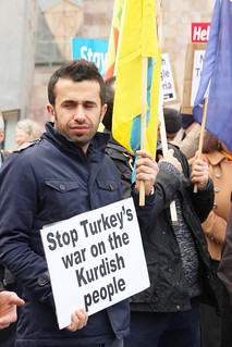 Rally against Turkish attacks against Kurds fighting Islamic State