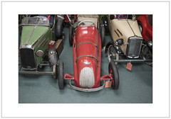 Vintage Pedal Cars (Pictures from the Ghost Garden) Tags: cars vintage toys nikon 28mm gloucestershire museums voigtlnder toycars bourtononthewater colorskopar pedalcars d7100 cotswoldmotoringmuseum