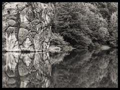 _8295318 Magic shades of -Grey (idunavision) Tags: leica lake reflection water forest see rocks wasser olympus teich externsteine detmold ostwestfalenlippe