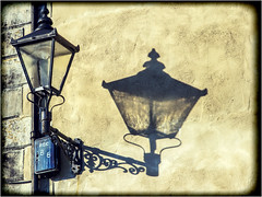 Light and Shadow (Digital Wanderings) Tags: old light shadow lamp streetlight streetlamp oldfashioned yorkshiredales reeth